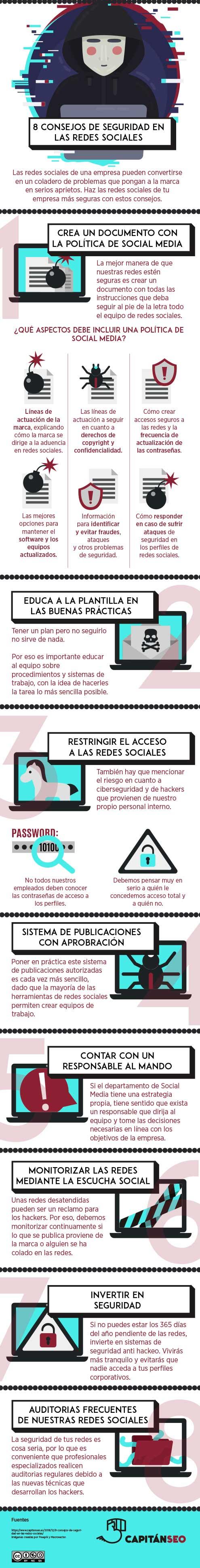 8 Consejos de seguridad en las redes sociales