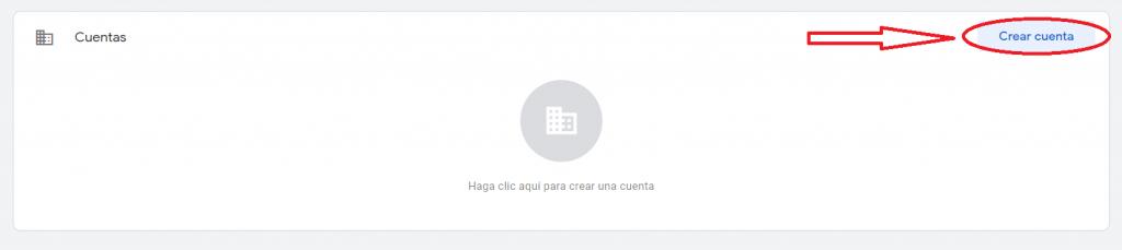 creación de cuenta en google tag manager