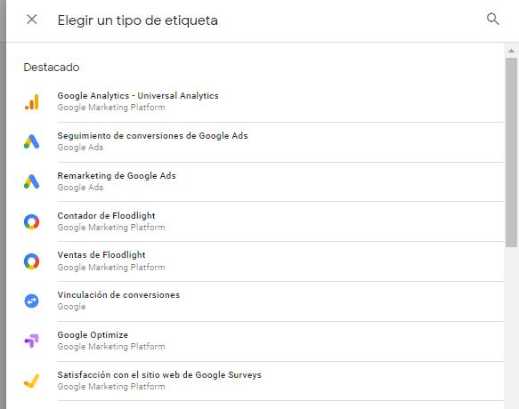 etiqueta google analytics universal analytics