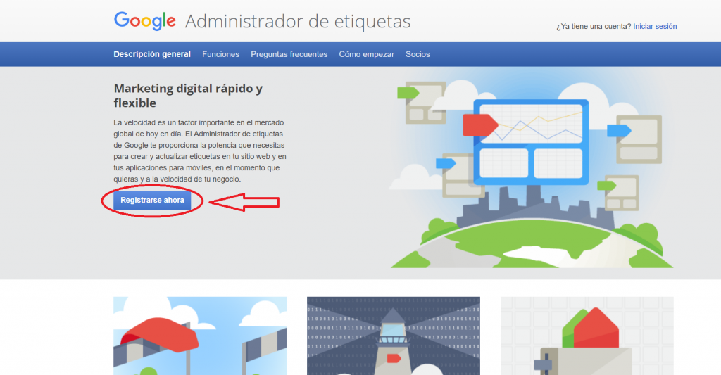 registro google tag manager