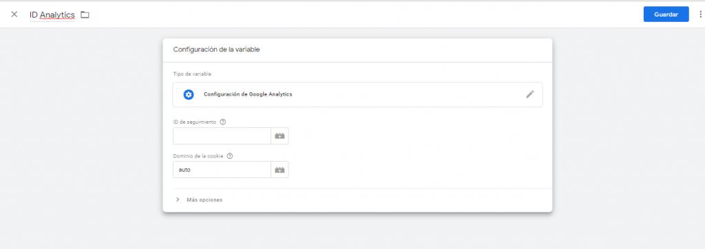 añadir id google analytics