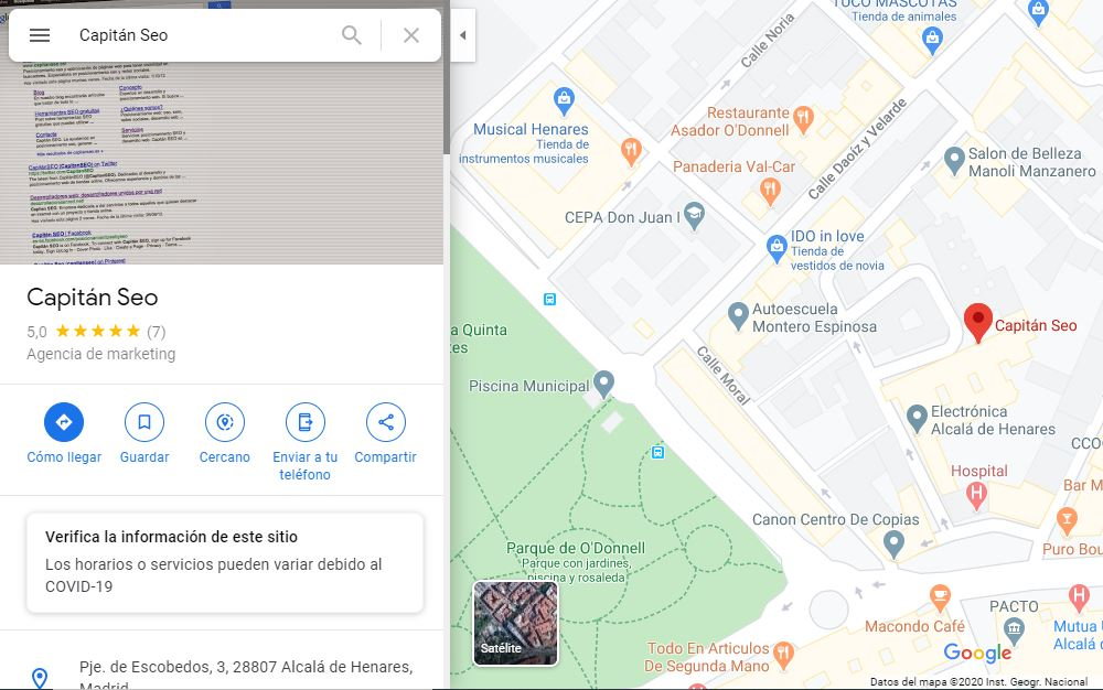google my business - maps