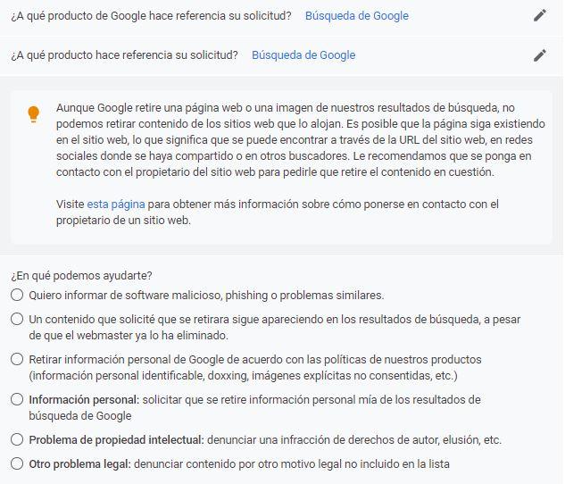 Paso 2: Seleccionamos Búsqueda de Google